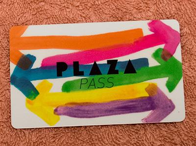 PLAZAのメンバーカード
